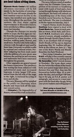 Deftones in Scene Magazine, Published Photography © Amy Weiser, Photographer
