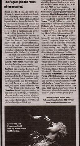 Powerman 5000 in Scene Magazine, Published Photography © Amy Weiser, Photographer