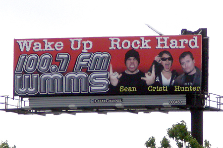 Sean, Cristi and Hunter, WMMS Billboard, Published Photography © Amy Weiser, Photographer