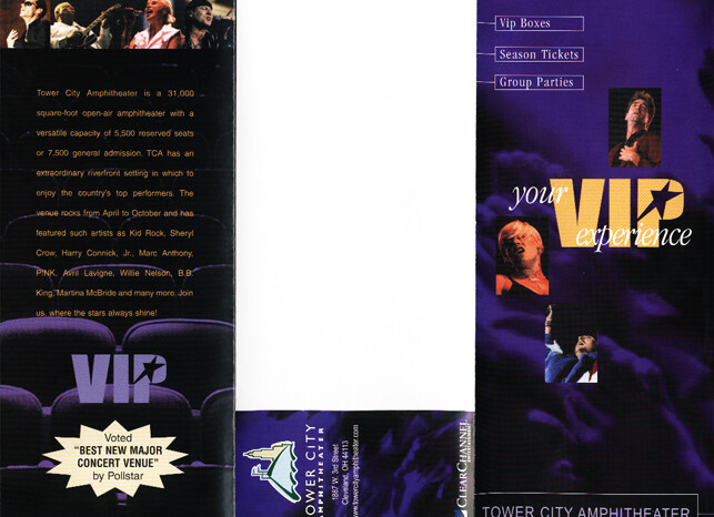 Tower City Amphitheater Promotional Booklet, Published Photography © Amy Weiser, Photographer