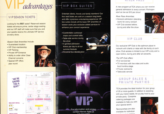 Tower City Amphitheater Promotional Piece, Published Photography © Amy Weiser, Photographer