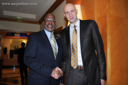 Events: Cleveland Cavaliers Zydrunas Ilgauskas and Campy Russell 2014 © Amy Weiser, Photographer