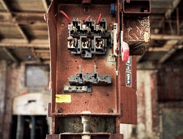 Old Fuse Box in Abandoned Building © Amy Weiser, Photographer