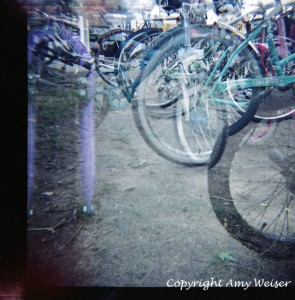 Lakeside Bikes Double Exposure © Amy Weiser, Photographer