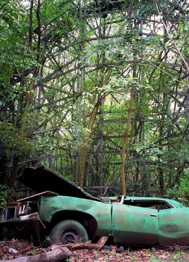 Abandoned Car at Chippewa Lake Amusement Park in Ohio © Amy Weiser, Photographer