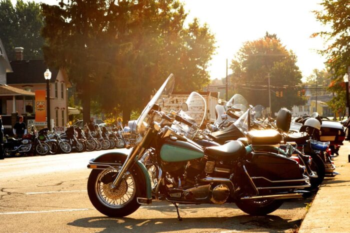 Early Morning Motorcycle Rally in Ohio © Amy Weiser, Photographer
