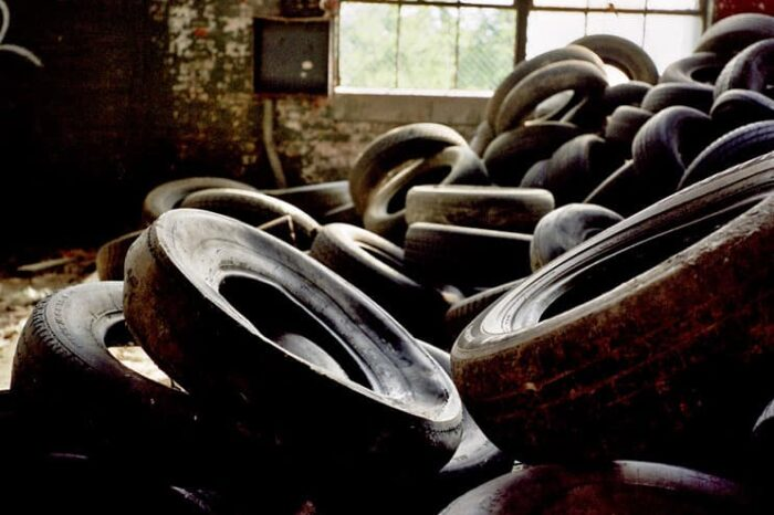 Tires in an Abandoned Building in Cleveland OH © Amy Weiser, Photographer