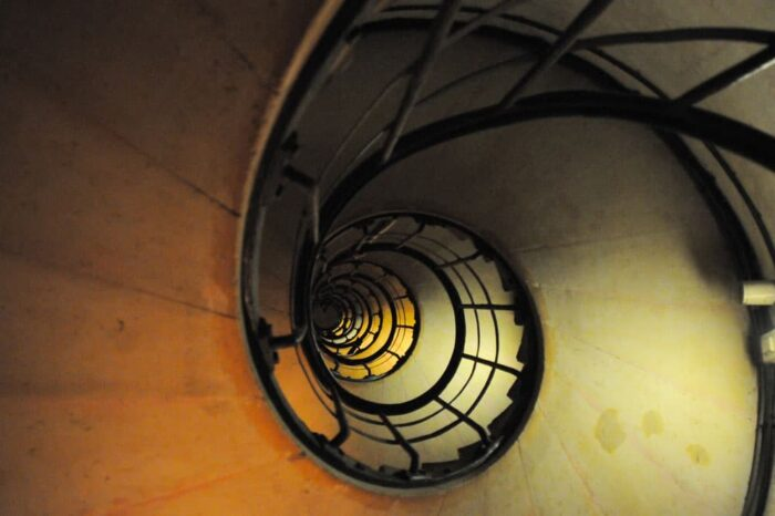 Stairs to the Top of L'arc De Triomphe in Paris, France © Amy Weiser, Photographer
