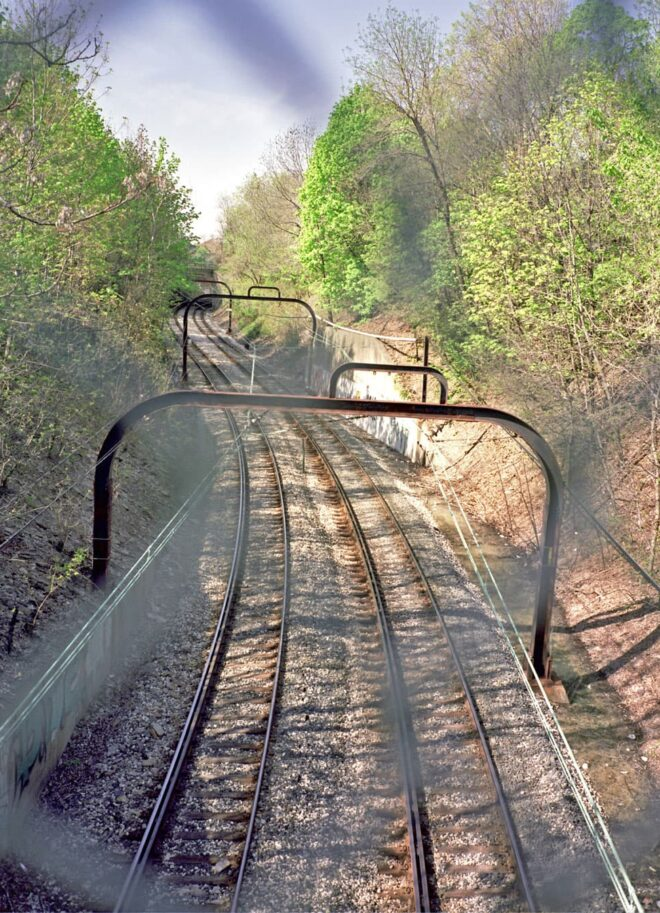 RTA Train Track in Cleveland, OH © Amy Weiser, Photographer