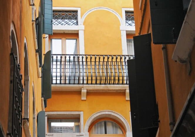Alley with Balconies in Venice, Italy, Travel Photography © Amy Weiser, Photographer