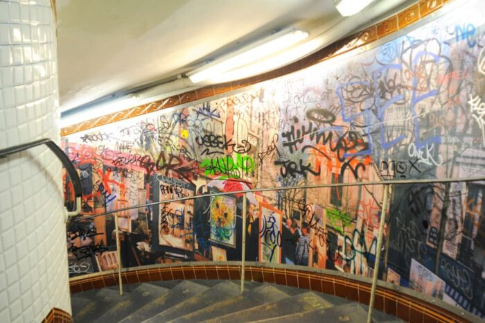 Subway with Graffiti in Paris, France © Amy Weiser, Photographer