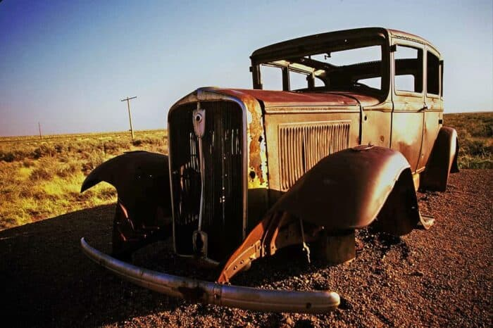 Abandoned Car on Route 66 in Arizona © Amy Weiser, Photographer