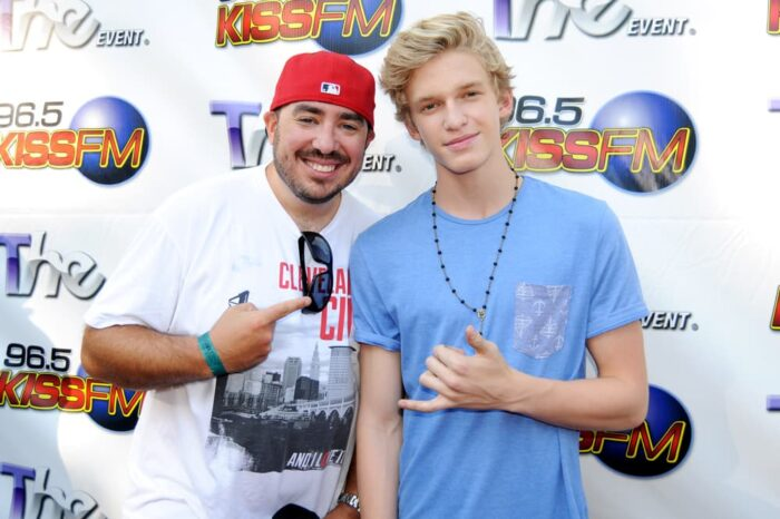 Bo Matthews of KISS FM Cleveland with Cody Simpson on the 96.5 Red Carpet, Event Photography © Amy Weiser, Photographer