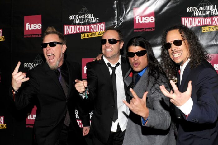 Metallica on the Red Carpet at the Rock and Roll Hall of Fame and Museum Induction Ceremony © Amy Weiser, Photographer