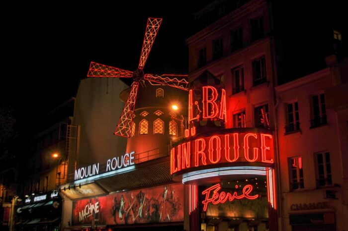 Moulin Rouge in Paris, France Landmark Travel Photography © Amy Weiser, Photographer