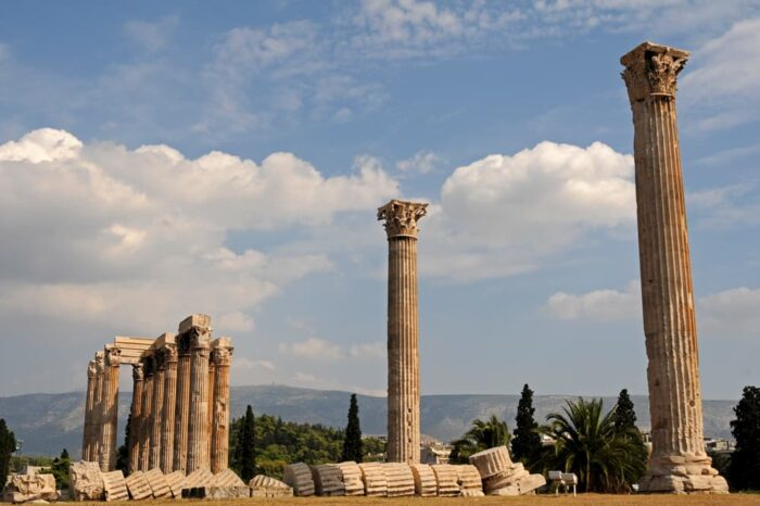 Temple of Olympian Zeus in Athens, Greece, Landmark, Travel Photography © Amy Weiser, Photographer
