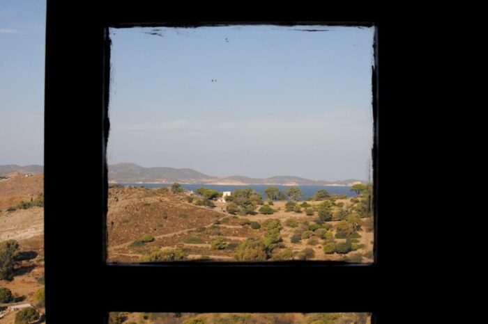 Window View in Patmos, Greece, Travel Photography © Amy Weiser, Photographer