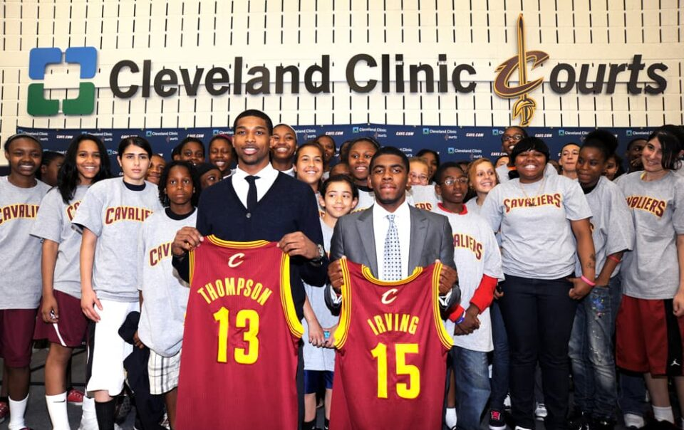 Cleveland Cavaliers Press Conference introducing Tristan Thompson and Kyrie Irving © Amy Weiser, Photographer
