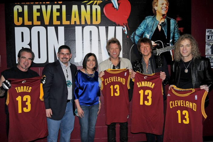 Bon Jovi Backstage Jersey Presentation, Event Photography © Amy Weiser, Photographer
