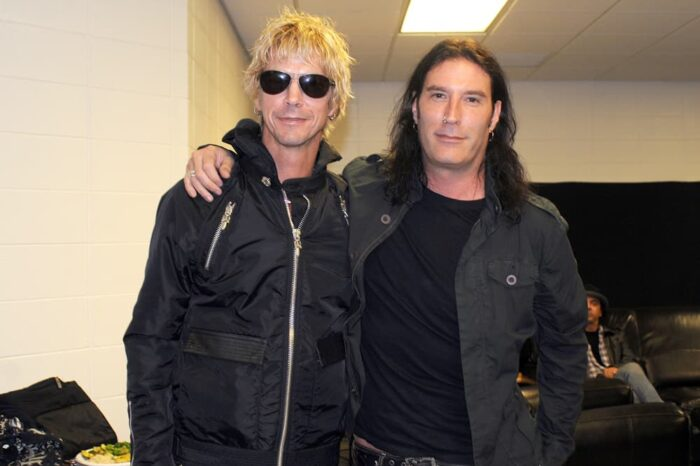 Duff McKagan with Sean Kinney of Alice in Chains Backstage, Event Photography © Amy Weiser, Photographer