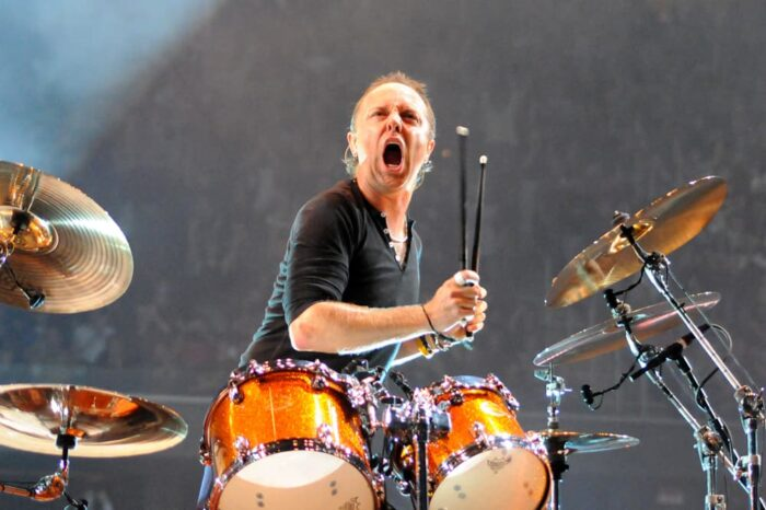 Lars Ulrich of Metallica in Concert at Rocket Mortgage Fieldhouse (Quicken Loans Arena), Concert Photography © Amy Weiser, Photographer