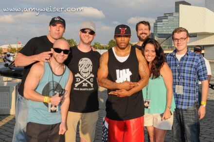 Nelly with the Rover's Morning Glory Crew at RoverFest 2013 © Amy Weiser, Photographer