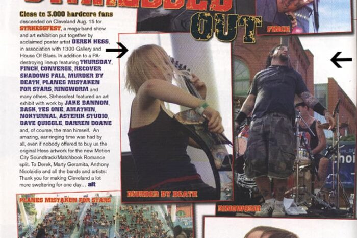 Strhess Fest Concert Photography in Alternative Press Magazine, Published Photography © Amy Weiser, Photographer