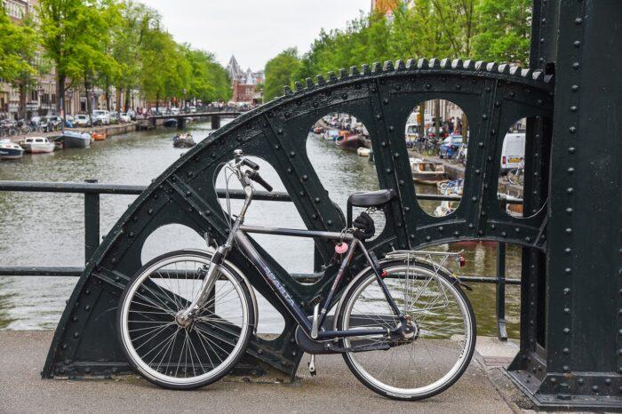 Bike and Bridge in Amsterdam, Netherlands © Amy Weiser, Photographer