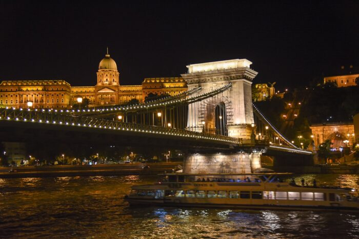 Budapest, Hungary Chain Bridge and Parliament, Travel Photography © Amy Weiser, Photographer