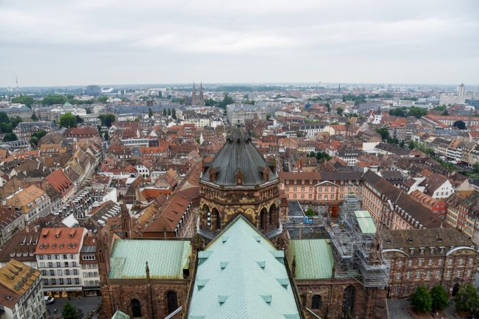 View from the Notre Dame Cathedral in Strasbourg, France Travel Photography © Amy Weiser, Photographer