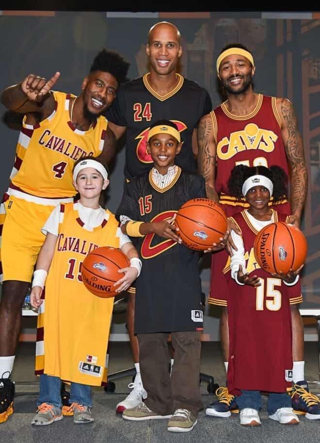 Cleveland Cavaliers' Iman Shumpert, Mo Williams and Richard Jefferson Unveil New Jerseys © Amy Weiser, Photographer