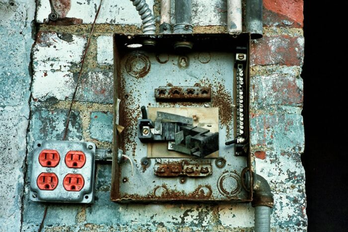 Electrical Box in an Abandoned Building © Amy Weiser, Photographer