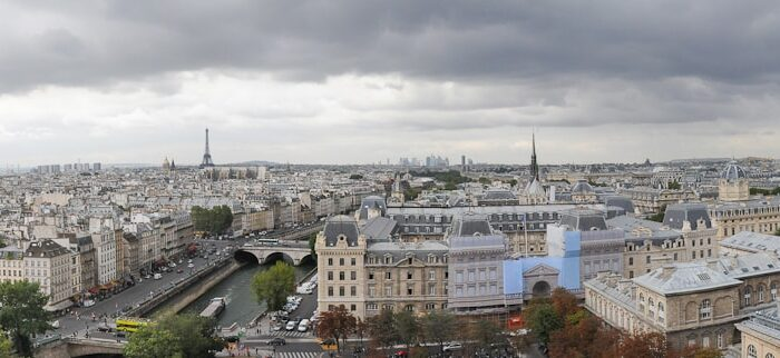 Panorama View from the Notre Dame Cathedral in Paris, France, Travel Photography © Amy Weiser, Photographer