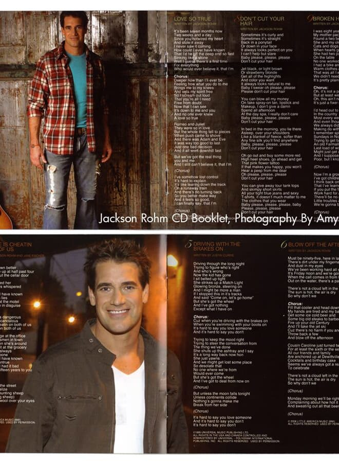 Jackson Rohm CD Booklet, Published Photography © Amy Weiser, Photographer