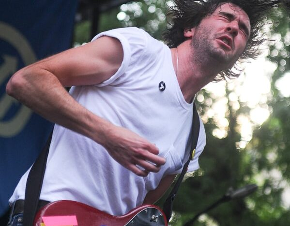 Japandroids Live on Stage at Pitchfork Music Festival, Concert Photography 2009 © Amy Weiser, Photographer
