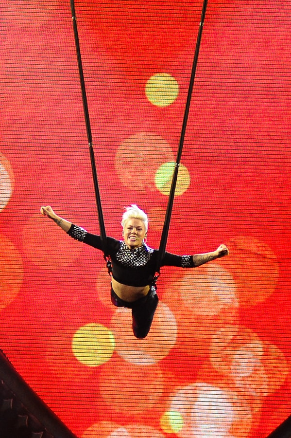Pink (P!nk) in Concert at Rocket Mortgage Fieldhouse (Quicken Loans Arena), Concert Photography © Amy Weiser, Photographer