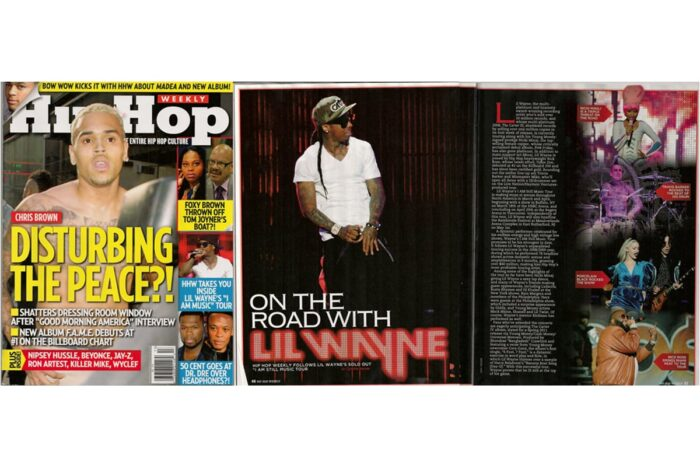 Lil Wayne Tour, Published in Hip Hop Weekly, 2011 © Amy Weiser