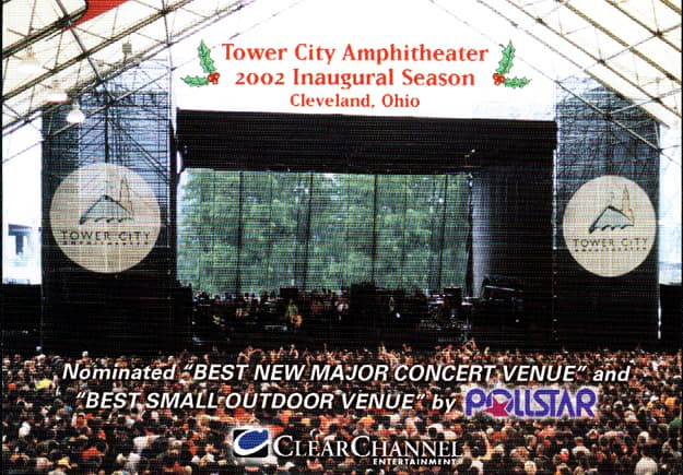 Tower City Amphitheater Promo Postcard, Published Photography © Amy Weiser, Photographer