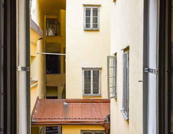 Mozart's Birthplace, Window and Architecture, Travel Photography © Amy Weiser, Photographer