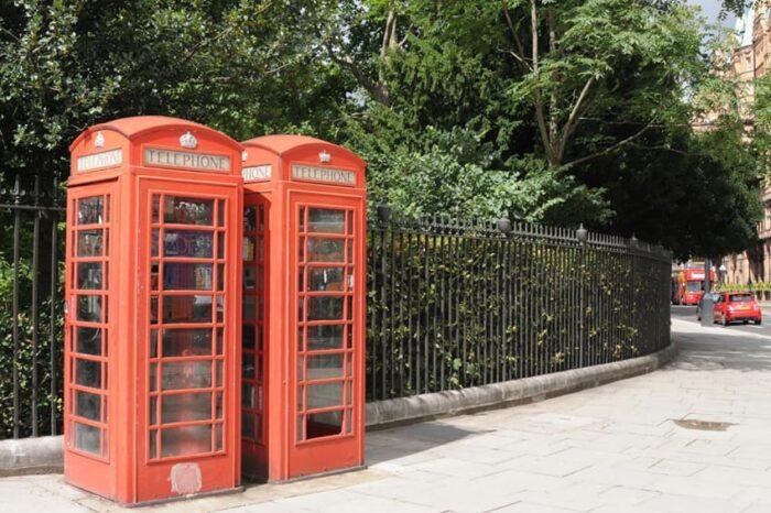 Phone Booths in London England, Fine Art © Amy Weiser, Photographer