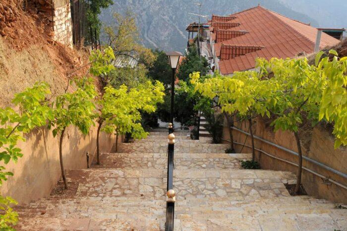 Delphi, Greece Stairway © Amy Weiser, Photographer