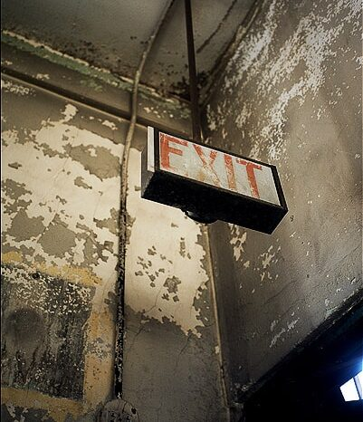 EXIT in an Abandoned Building © Amy Weiser, Photographer