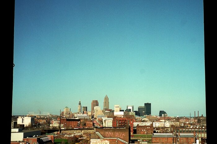 View of Cleveland, OH from an Abandoned Building © Amy Weiser, Photographer