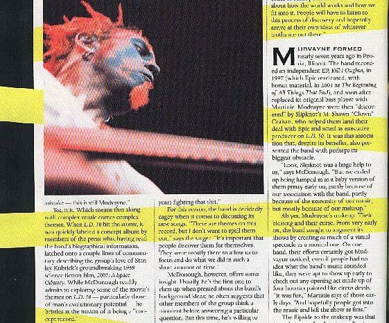 Mudvayne in Revolver Magazine, Published Photography © Amy Weiser, Photographer